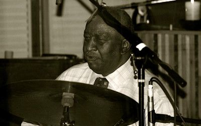 "Bernard Purdie warms up before the ""If You Need Me"" session…"