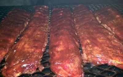 Bobby Flay's Smoked Ribs w/ Carolina BBQ Sauce